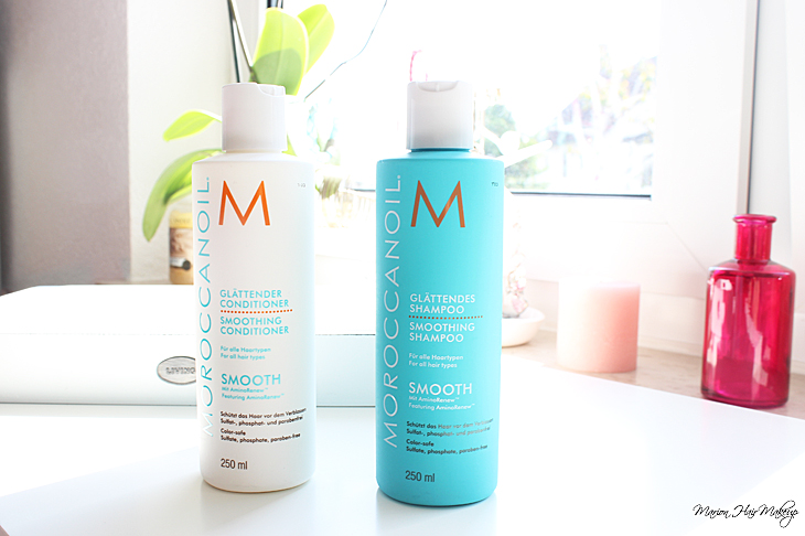marion hair makeup glatte haare mit moroccanoil smooth shampoo