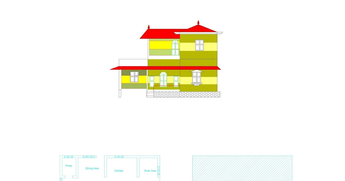 Ente veedu kerala style plan elevation for New model veedu photos