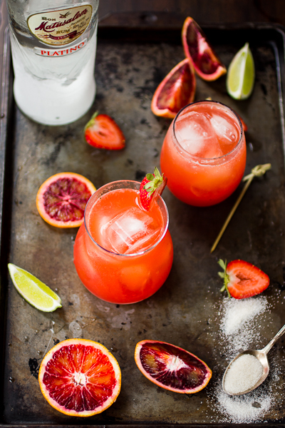 The Bojon Gourmet: Strawberry Blood Orange Rum Punch