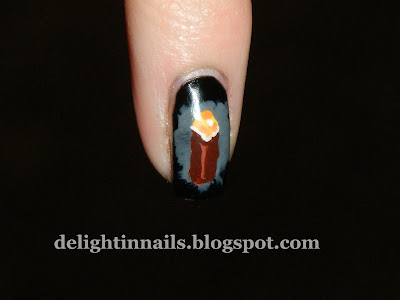 Minecraft Torch Manicure
