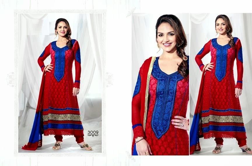 EshaDeolSalwarSuits2013 2014 wwwfashionhuntworldblogspotcom 001 - Wonderful Color Combination Esha Deol Suits