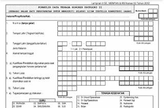 Download Formulir Tenaga Honorer Kategori II Dari BKN Pusat