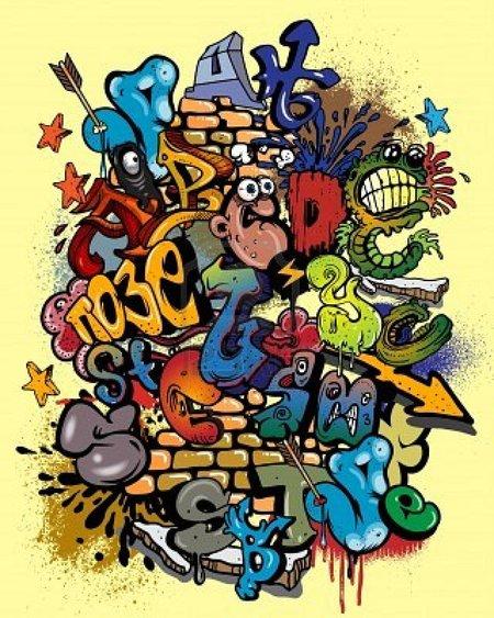 Hip hop abecedario graffiti style