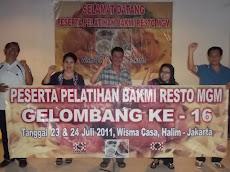 Pelatihan Bakmi MGM Gel-16 Tgl 23 & 24 Juli 2011