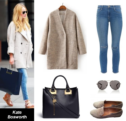 outfit, abrigo, coat, boyfriend, Kate Bosworth