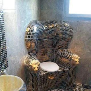 lion toilet