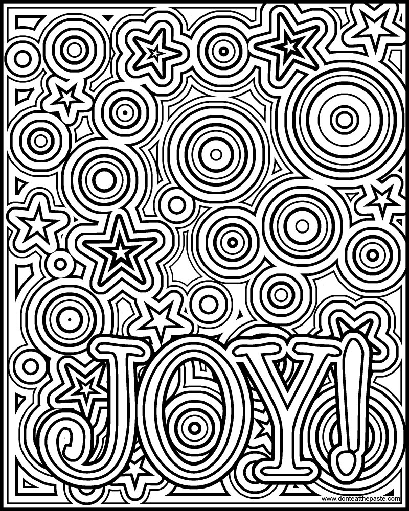 Don T Eat The Paste Joy Coloring Page Joys Coloring Pages Page