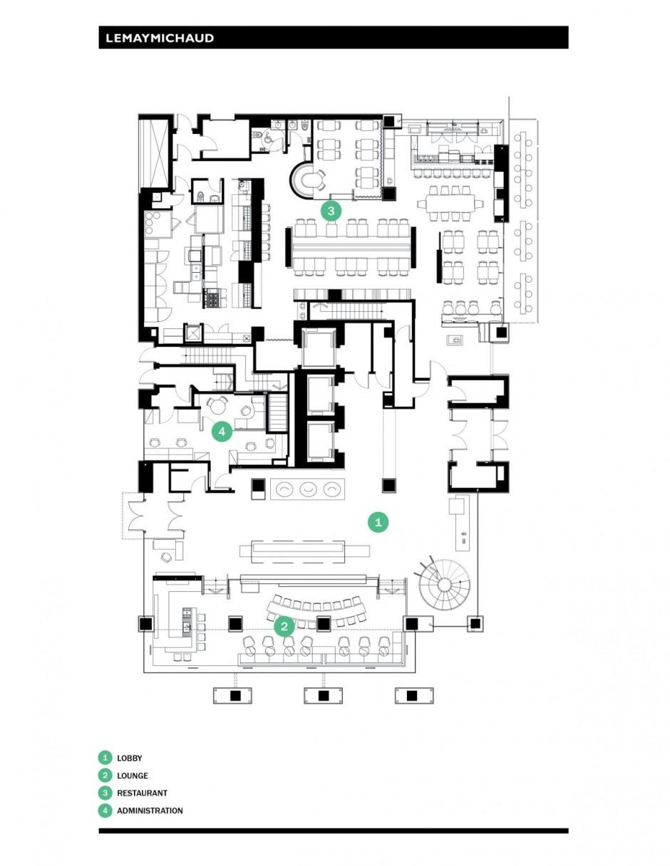 Architecture hotel plans