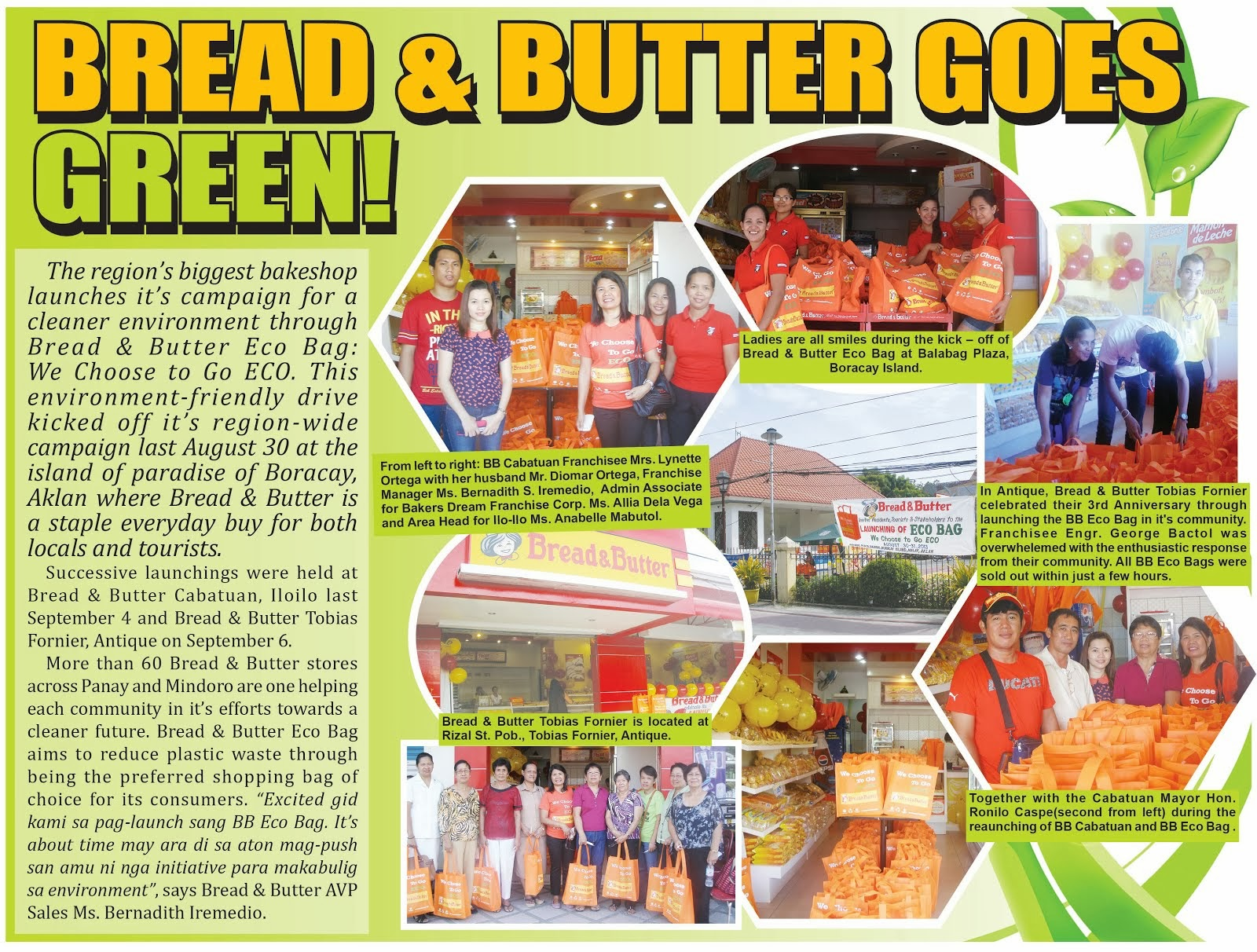 Bread & Butter chooses to go ECO!