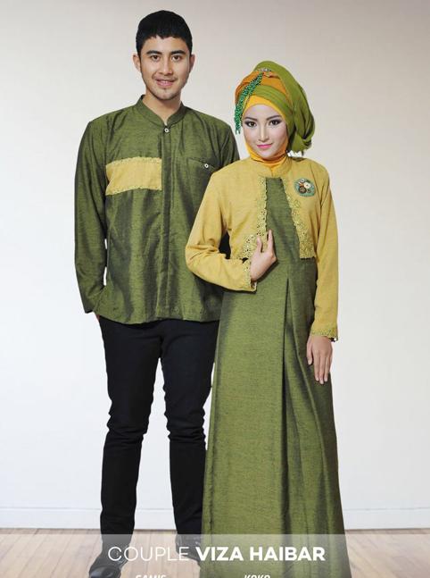 Pakaian wanita dan pria Baju couple gamis dan koko