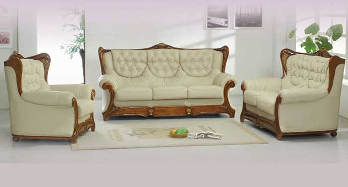 Modern Leather Sofa Furniture Decor
