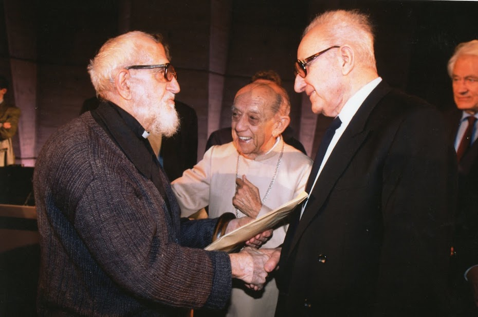 """Le """"Cardinal"""" Garaudy avec l'Abbé et l'Archevêque"""
