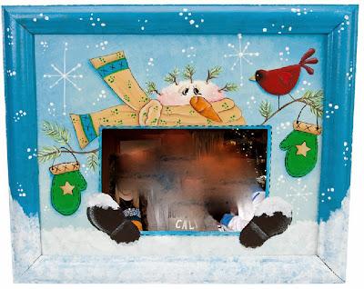 DIY Funny Christmas Photo Frame.