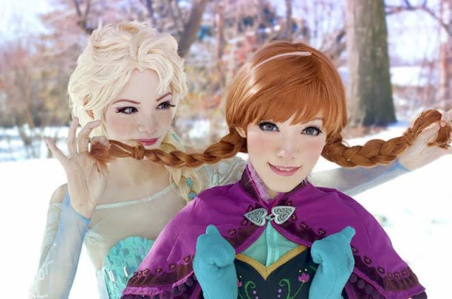Cosplays de Elsa y Anna (Frozen)