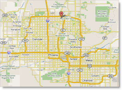 Map of Phoenix area