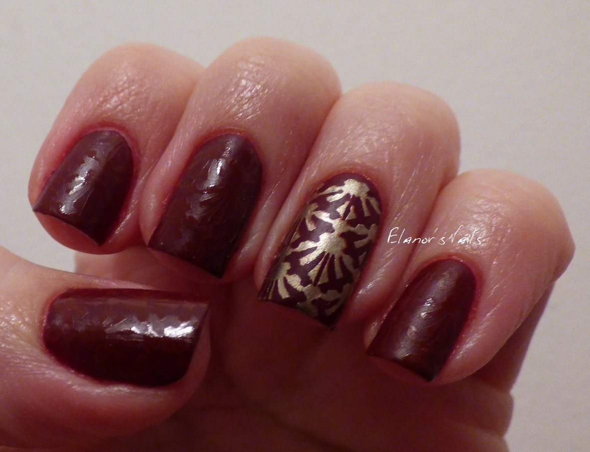 Elanor\'s Nails: Glossy/Matte Stamped Nails