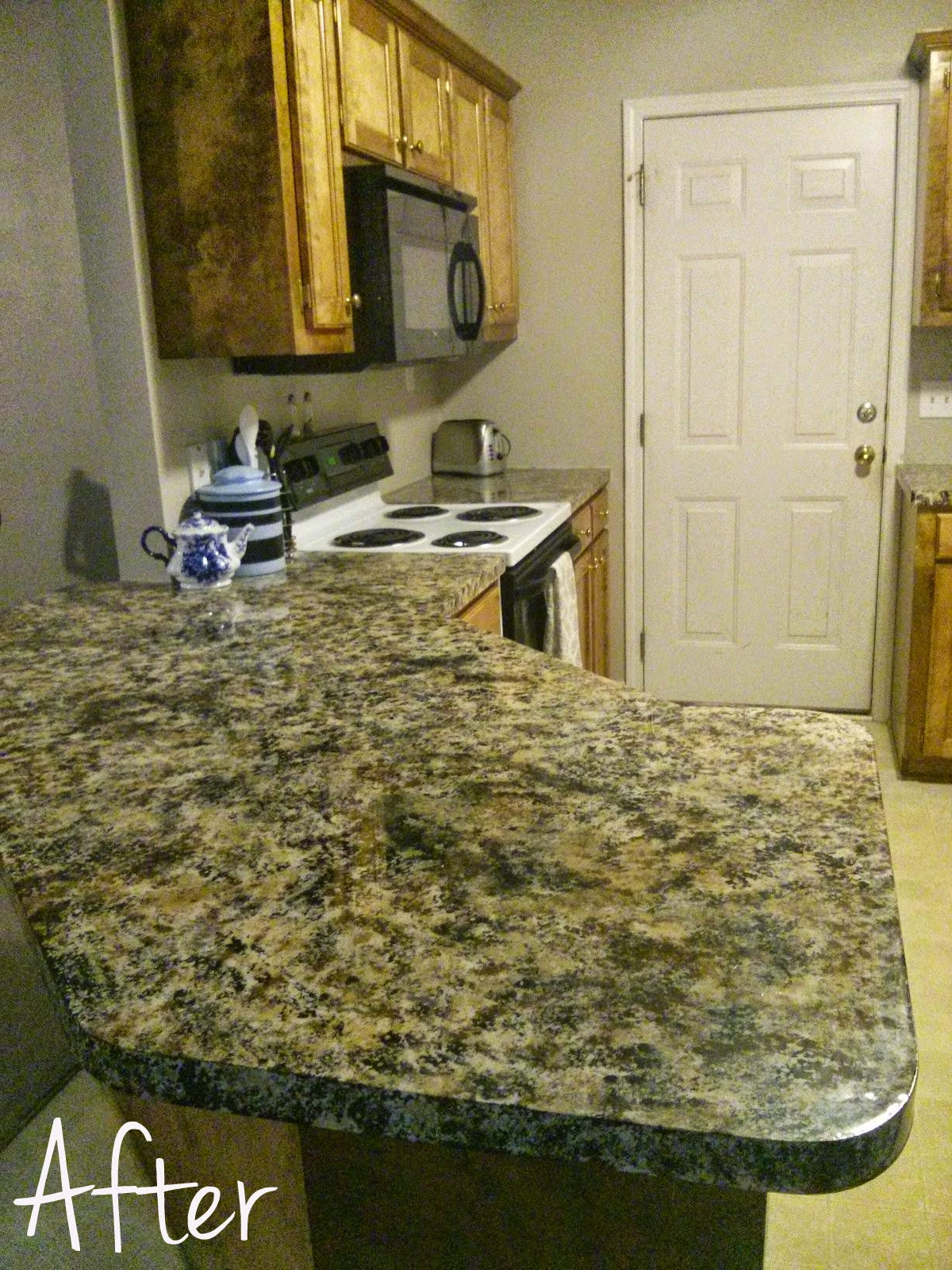 Fake granite counter tops