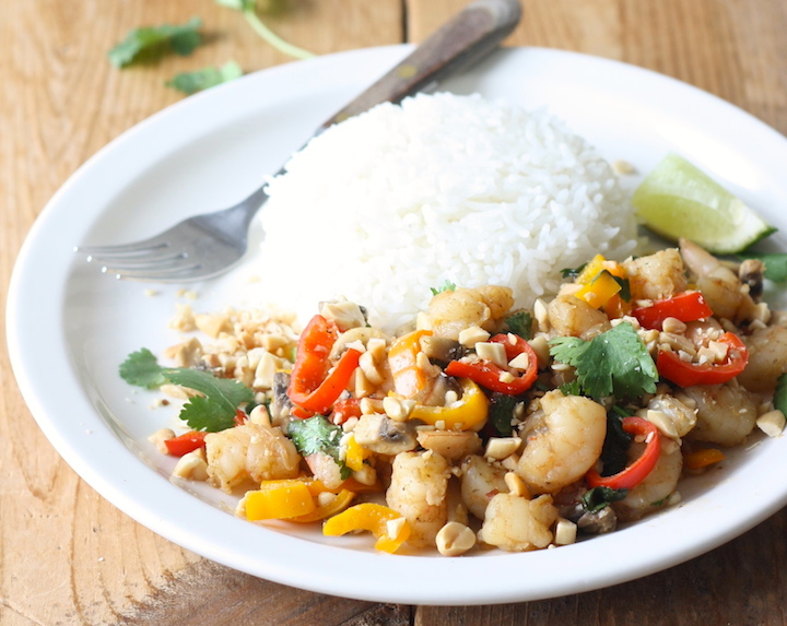 Thai Shrimp & Veggie Stir Fry recipe by SeasonWithSpice.com