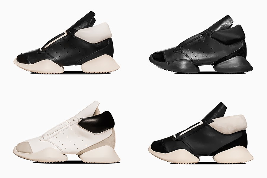 RICK OWENS X ADIDAS NOW AVAILABLE IN CPH AND ONLINE PRICES FROM EUR. 440-490.00 SHOP: http://www.henrikvibskovboutique.com/shopping/men/adidas-x-rick-owens/shoes-2/items.aspx?userd=1