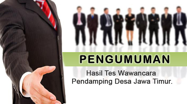 Sindopos.com - Download Daftar Nama - Nama Calon Pendamping Desa P3MD Jawa Timur.