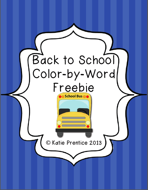 http://www.teacherspayteachers.com/Product/Back-to-School-Color-by-Word-FREEBIE-795292