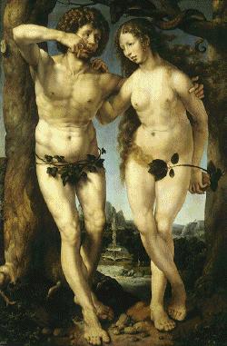 Adão e Eva. Mabuse, Século XVI.