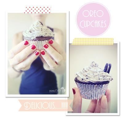 delicious oreo cupcake