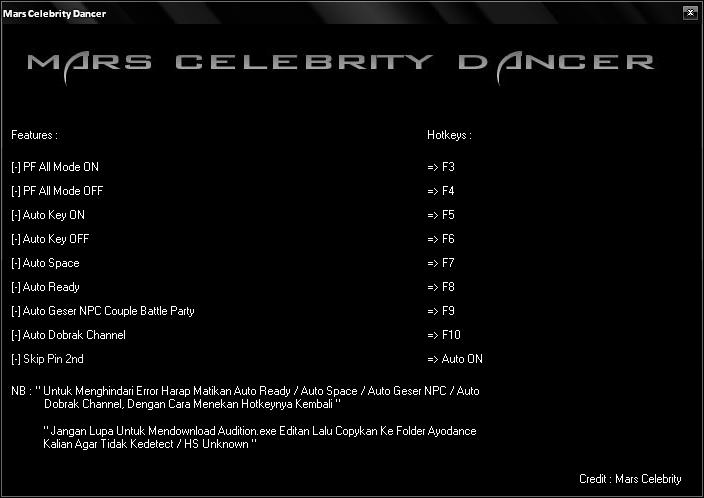 Fullhacks Mars Celebrity Dancer v.6087 - #Cheats Audition Ayodance ...