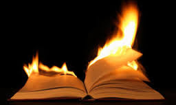 burning book