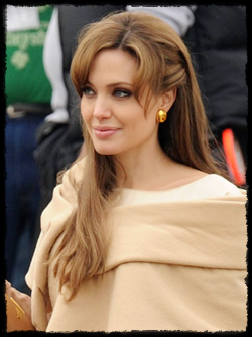 angelina's dark blonde hairstyle