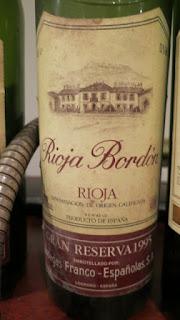 Rioja Bordón Gran Reserva 1995 - DOCa Rioja, Spain (89 pts)