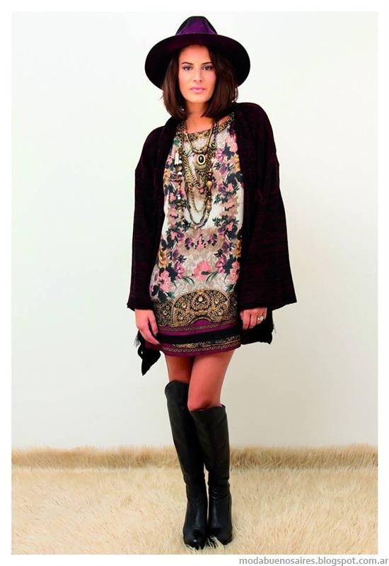 Moda invierno 2014 Marcela Pagella vestidos.