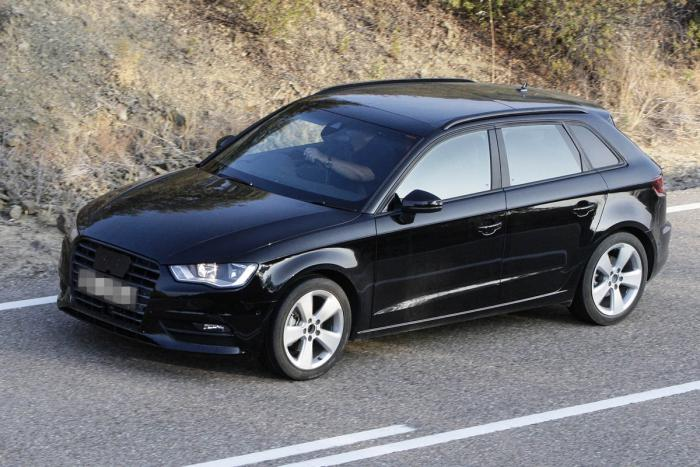 spy photos 2014 audi a3 sportback garage car. Black Bedroom Furniture Sets. Home Design Ideas