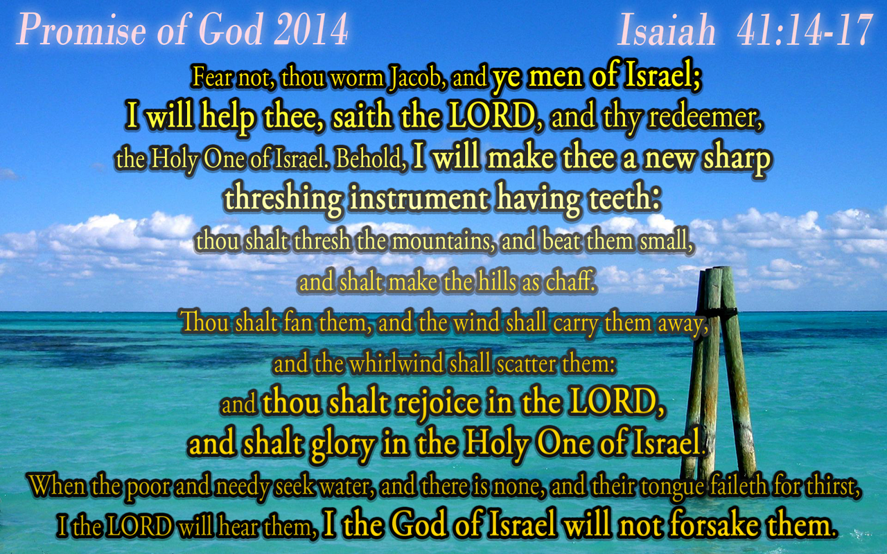 Years Promised by God Promise of God 2014