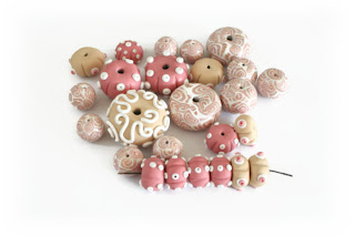 Seahell & urchin themed beads by Lottie Of London