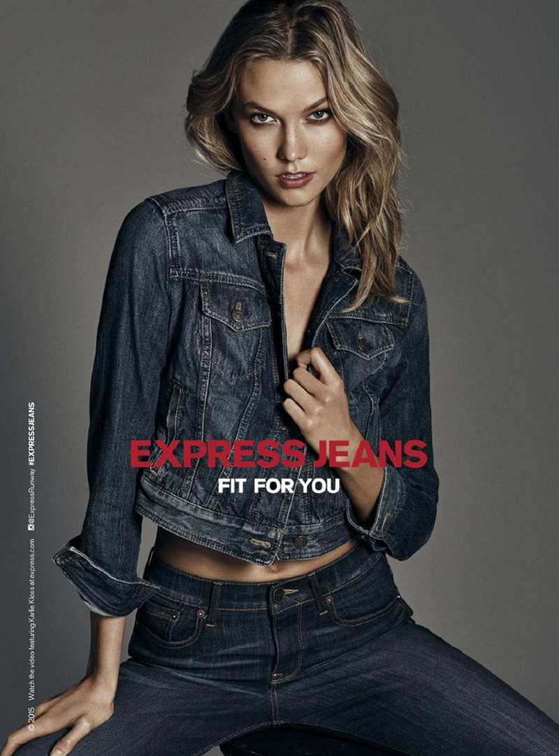 Express Jeans Campaign 2015 featuring Karlie Kloss