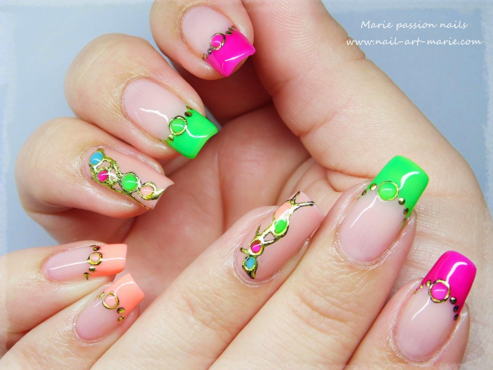 nail art fluo1