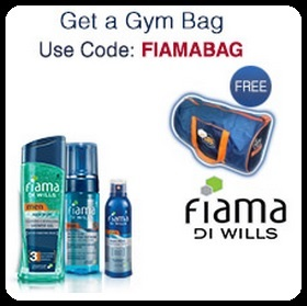 Free Gym Bag with Fiama Products worth Rs.600 - Free Shipping