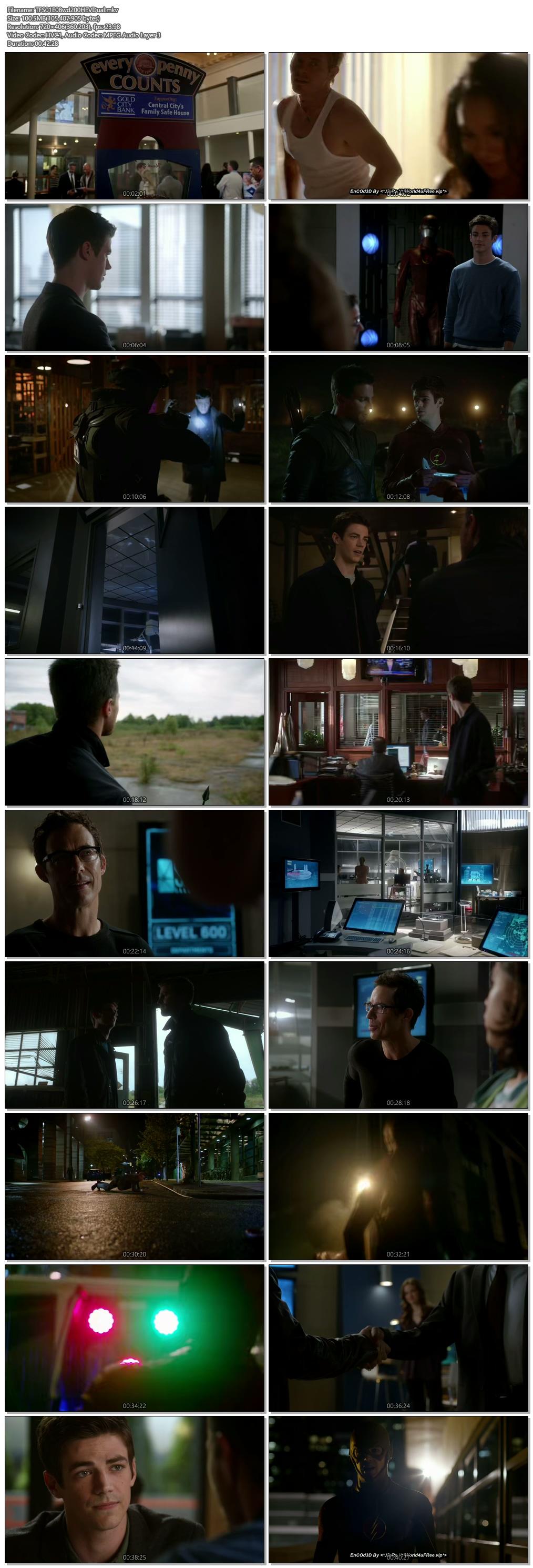 Screenshots Of Hindi Dubbed Show The Flash 2015 Season 01 Episode 08 300MB 720P HD