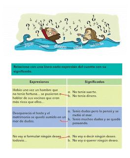 Respuestas Respuestas Apoyo Primaria Español 2do grado Bloque 4 lección 14 Expresiones y su significado