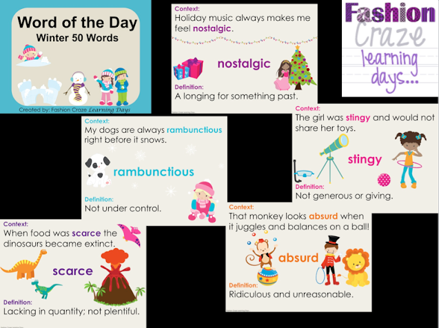 Word of the Day Posters