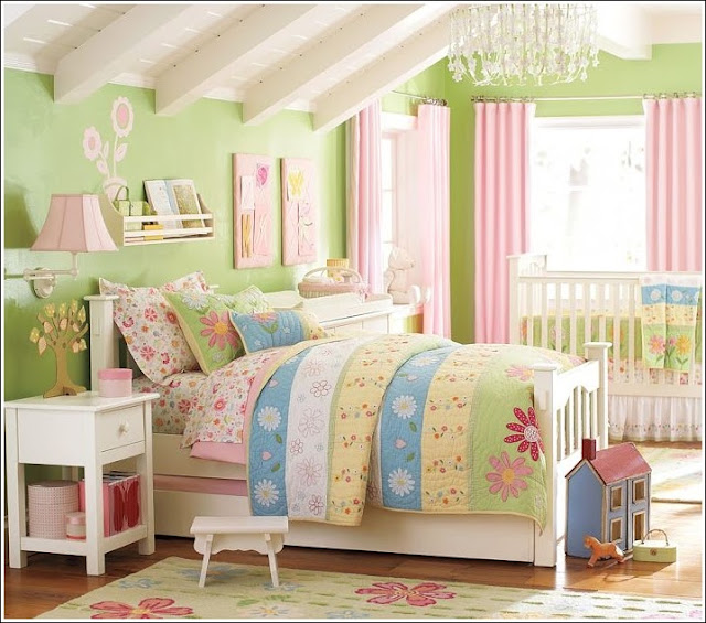 D coration chambres th me de fleur pour les petites - Decoration des chambres des filles ...