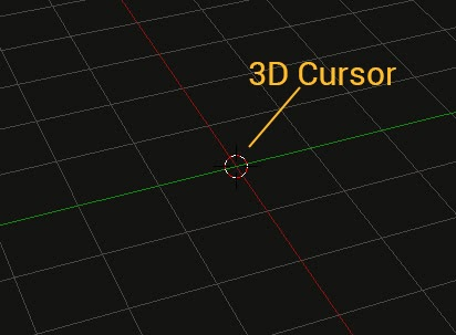 how to move 3d cursor in blender