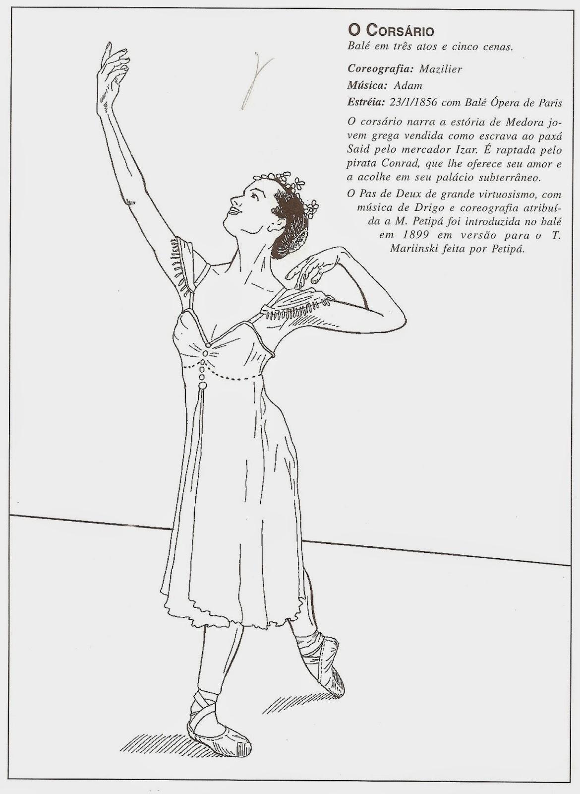 mundo bailarin u00edstico  ballets de repert u00f3rio para colorir
