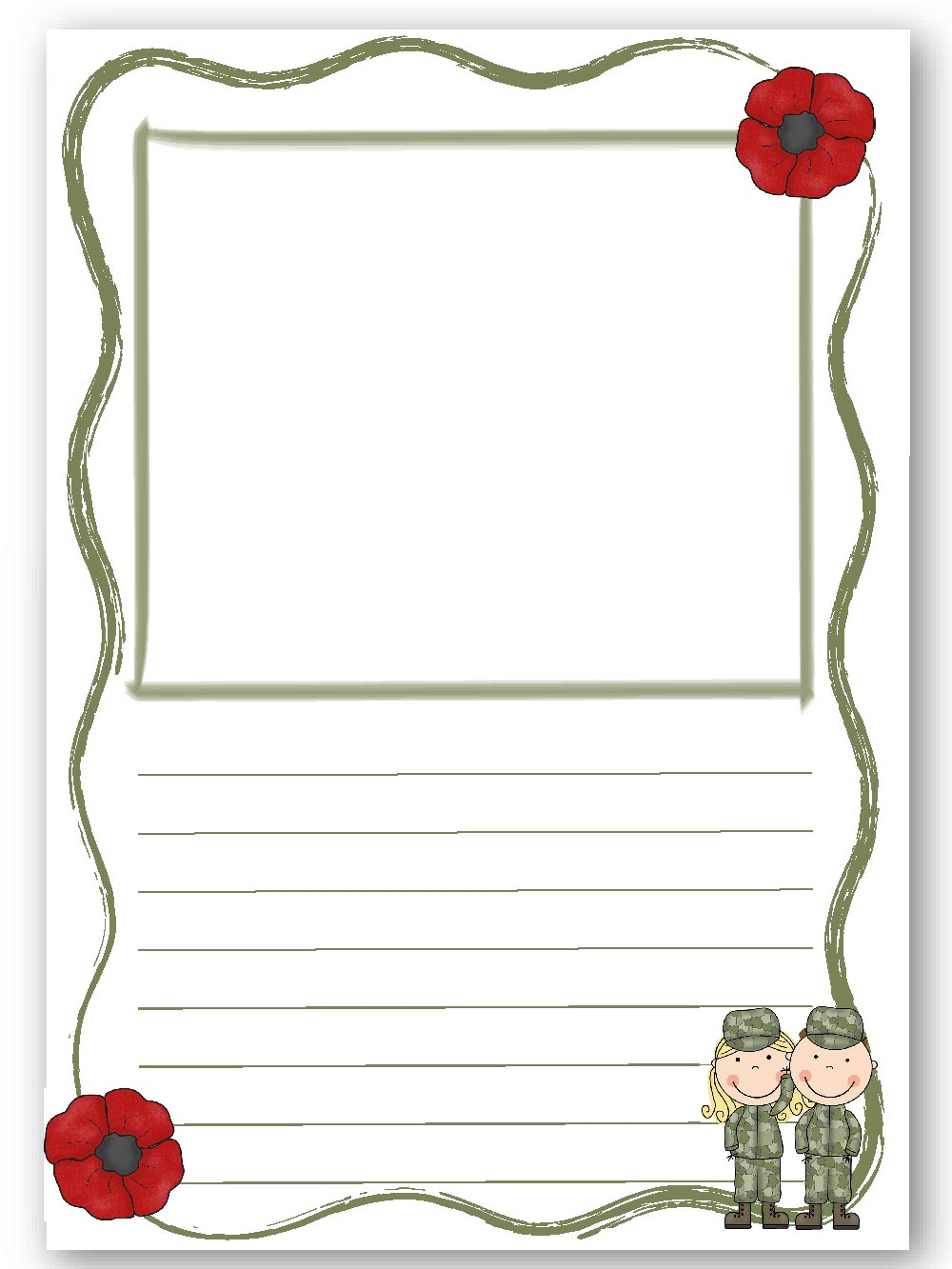 veterans day writing paper Remembrance day or veteran's day printables for preschool, kindergarten and gradeschool kids  remembrance day or veteran's day printables writing paper.