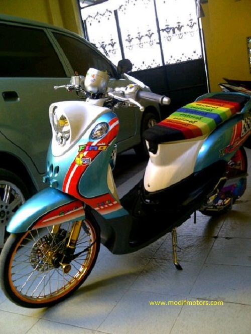 Modifikasi Yamaha Fino Retro