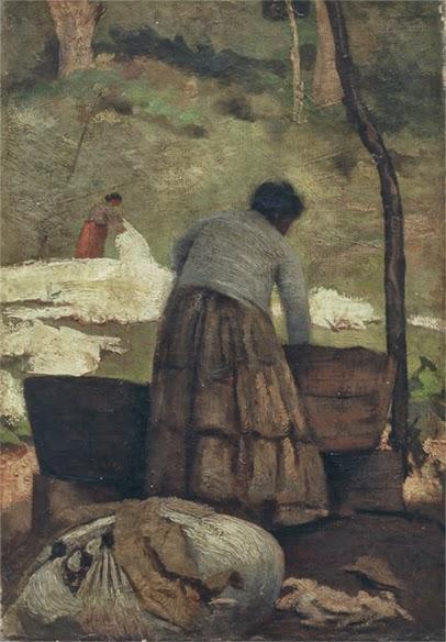 pintura de lavadeira