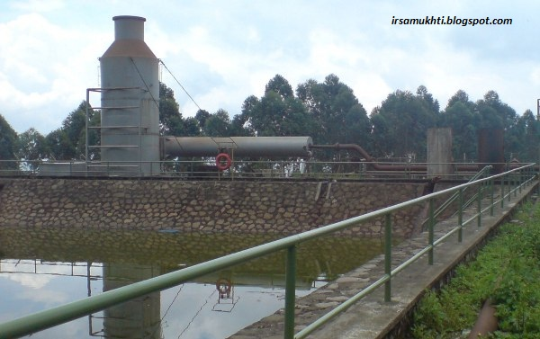 Silencer Beserta Thermal Pond Di Lapangan Geothermal
