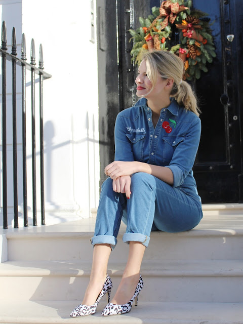 donna ida sady boiler suit, how to wear a boiler suit, jumpsuit, denim jumpsuit, denim on denim, how to wear a jumpsuit, denim overall, london streetstyle
