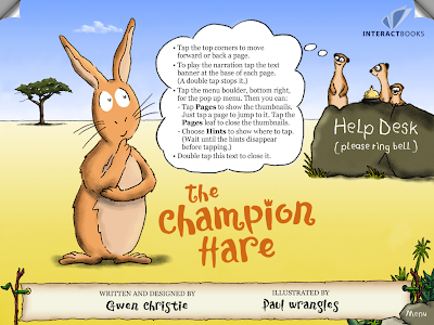 The Champion Hare, Home screen with Help Pop-Up